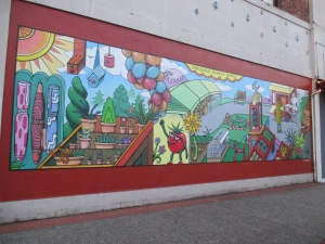 Full view of the mural